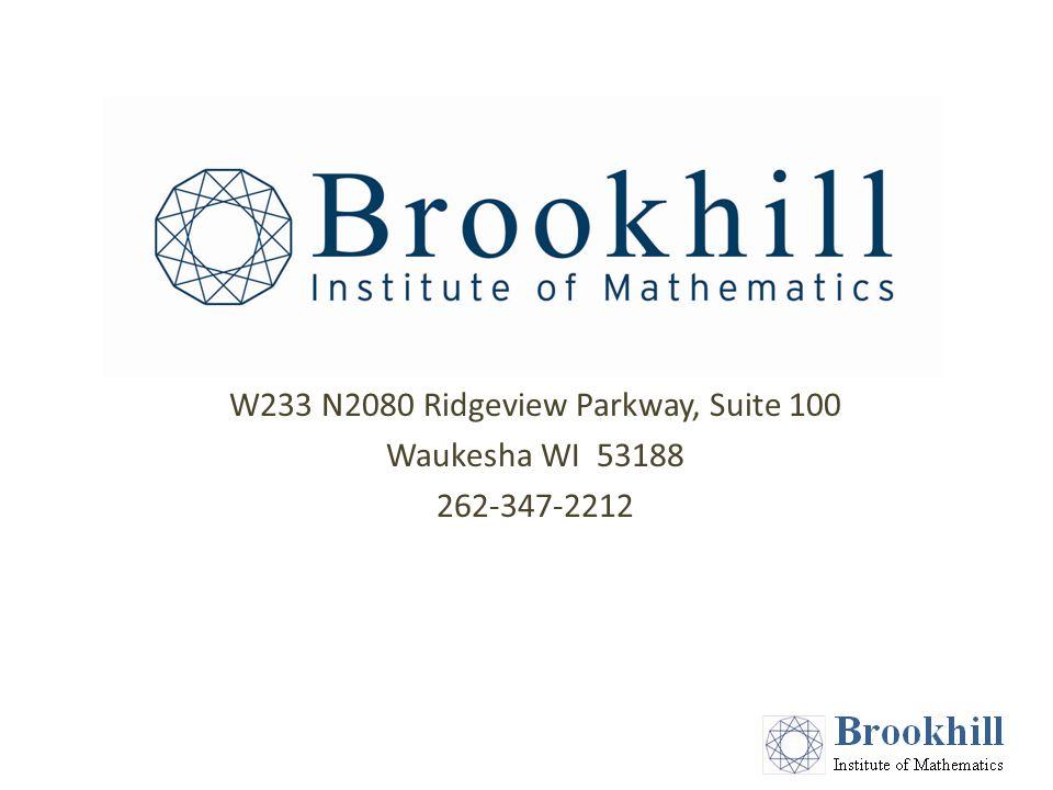 W233 N2080 Ridgeview Parkway, Suite 100 Waukesha WI 53188 262-347-2212
