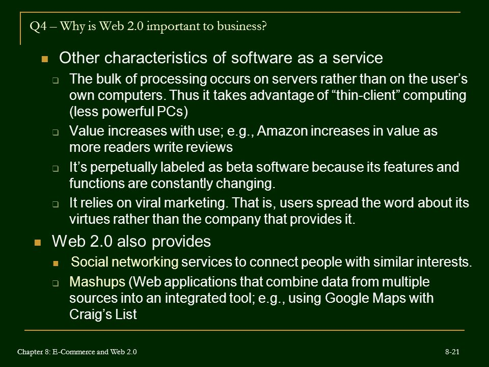Q4 – Why is Web 2.0 important to business.