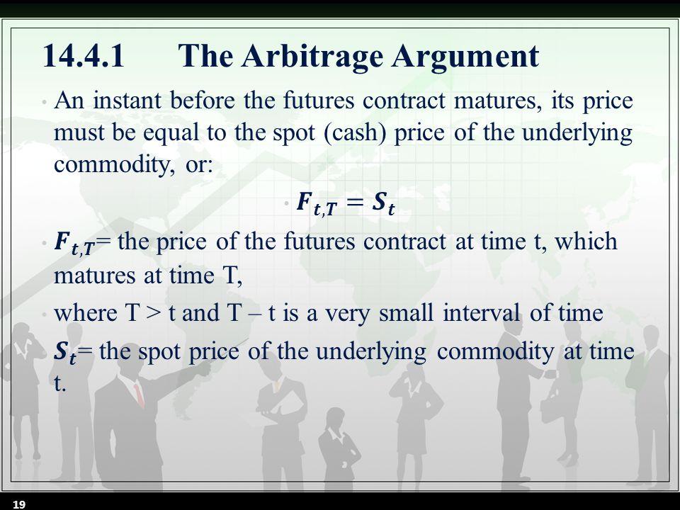14.4.1The Arbitrage Argument 19