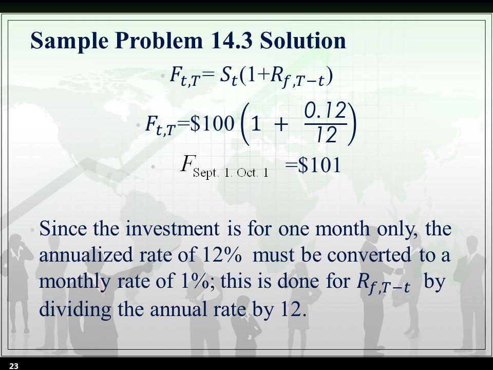 Sample Problem 14.3 Solution 23