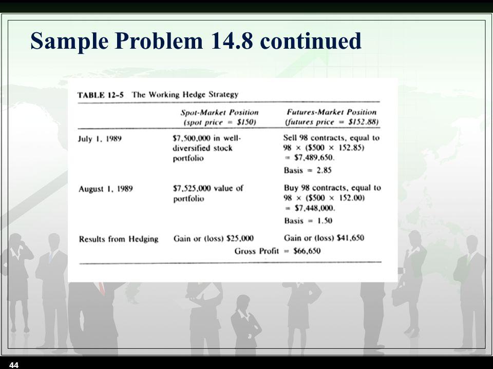 Sample Problem 14.8 continued 44