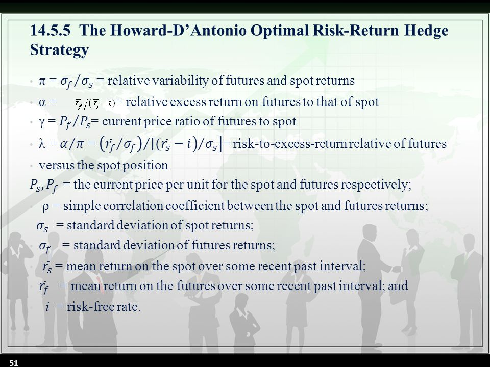 14.5.5The Howard-D'Antonio Optimal Risk-Return Hedge Strategy 51
