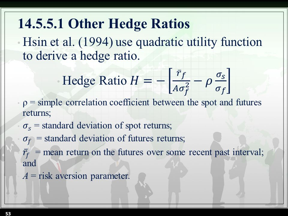 14.5.5.1 Other Hedge Ratios 53