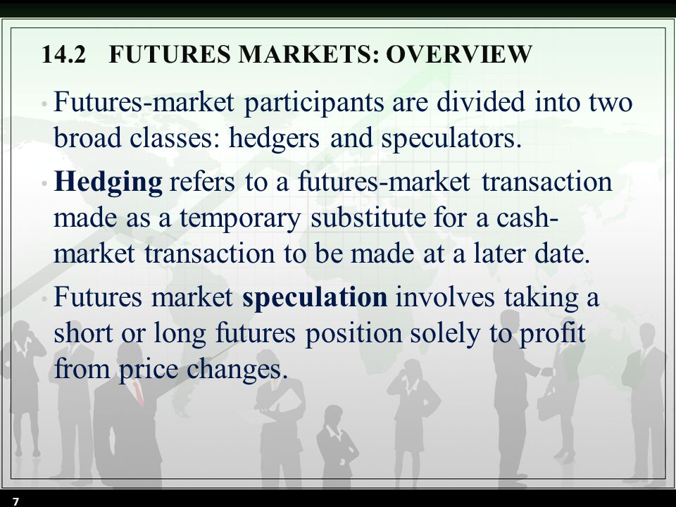 14.5.2The Classic Hedge Strategy To apply the classic hedge strategy to the hedging problem, an opposite and equal position is taken in the futures market for the underlying commodity.