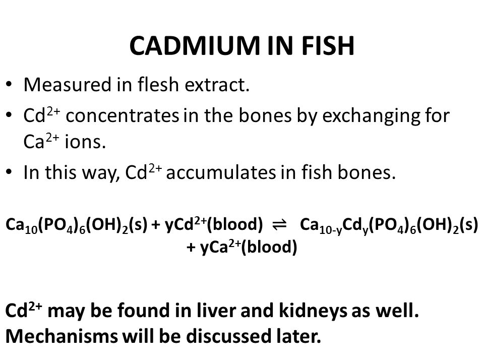BIOACCUMULATION OF CADMIUM IONS SKIP Although Cd 2+ levels in surface water may be lesser than what Bandara et al. have reported, Cd 2+ has a notoriou
