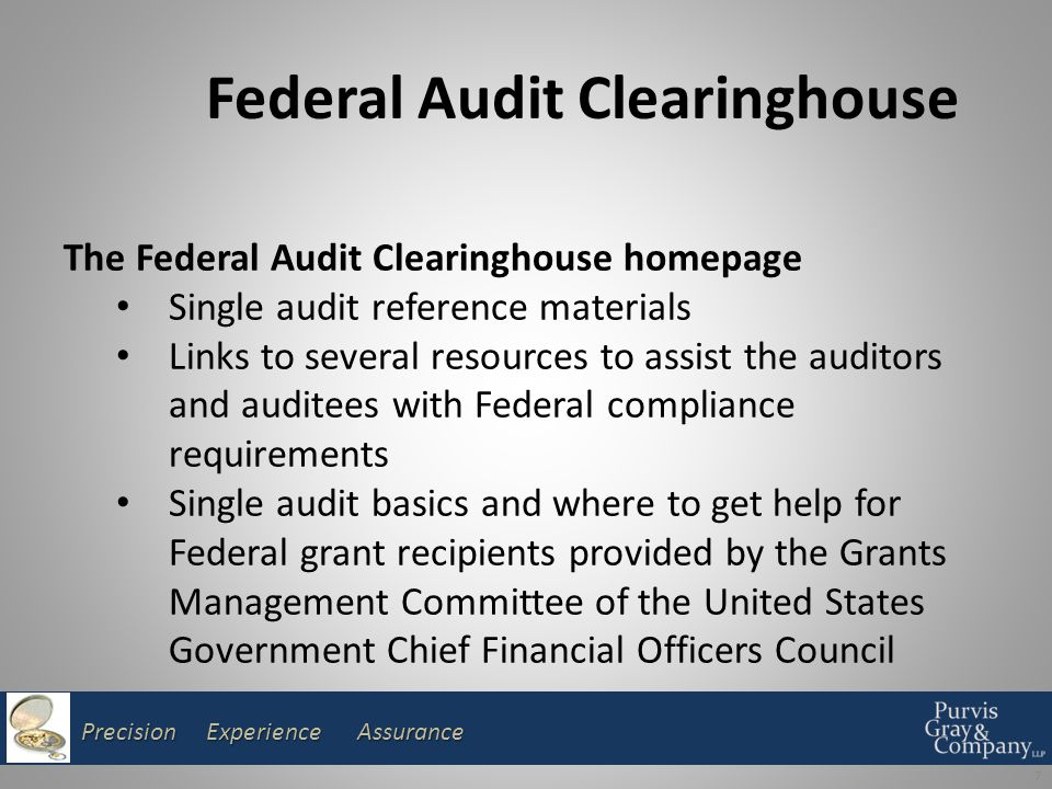 Precision Experience Assurance OMB Circulars Cost Principles Cost Principles Audits Audits