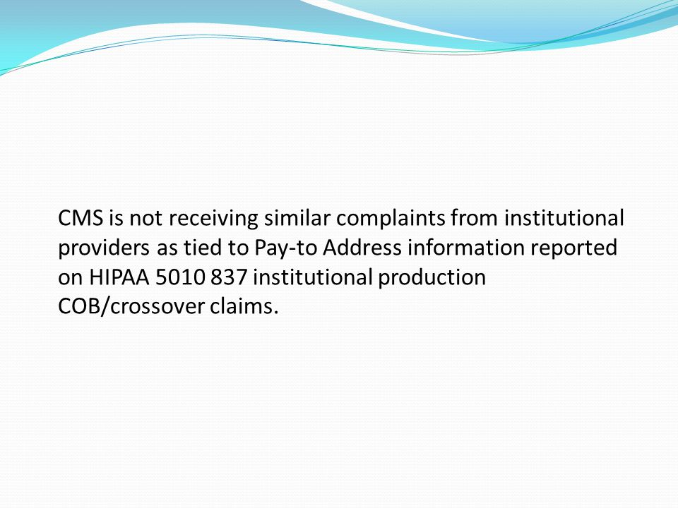 Crossover Claim Issues Important Information Concerning Medicare Outreach Efforts to Supplemental Payers Directing Their Payments to Incorrect Addresses Over the past several weeks, many physician/practitioner billing offices have notified their servicing A/B Medicare Administrative Contractor or Part B Carrier and the Centers for Medicare & Medicaid Services (CMS) that various supplemental payers have directed payment, arising from Medicare crossover claims, to incorrect payment addresses.