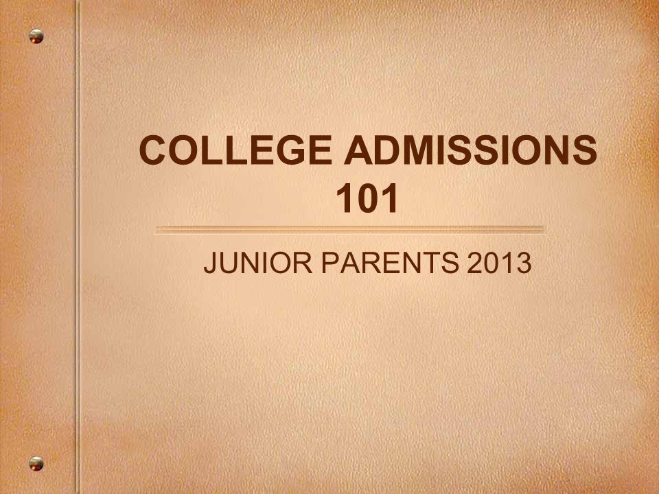 Visit Campuses Important to do before senior year.