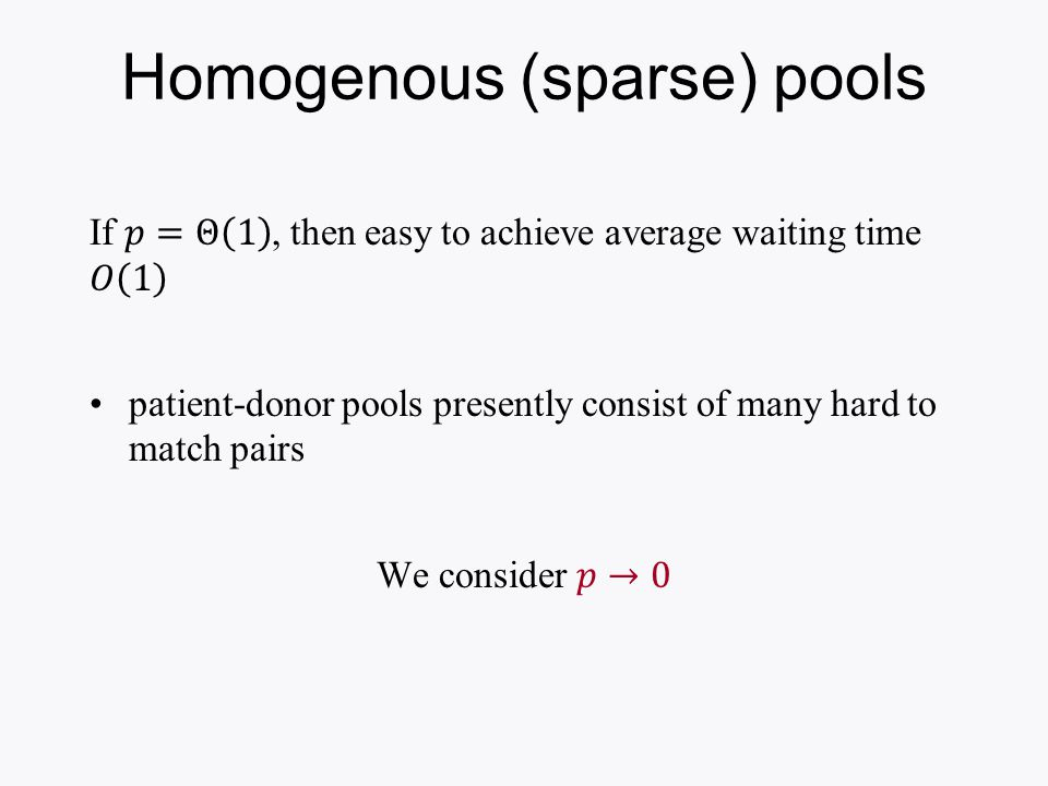 Homogenous (sparse) pools