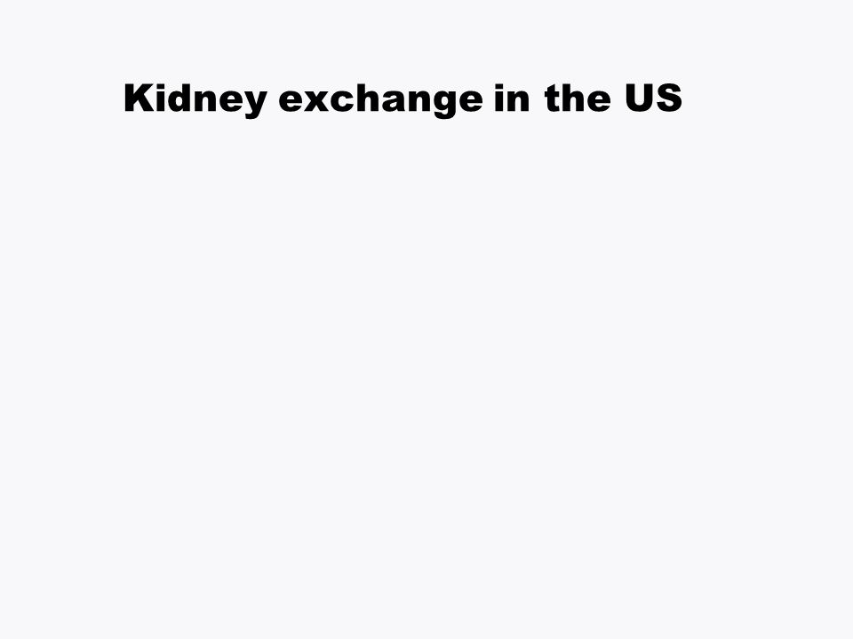 Kidney exchange in the US