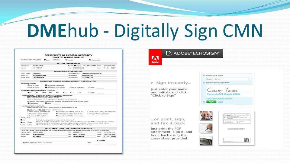 DMEhub - Digitally Sign CMN