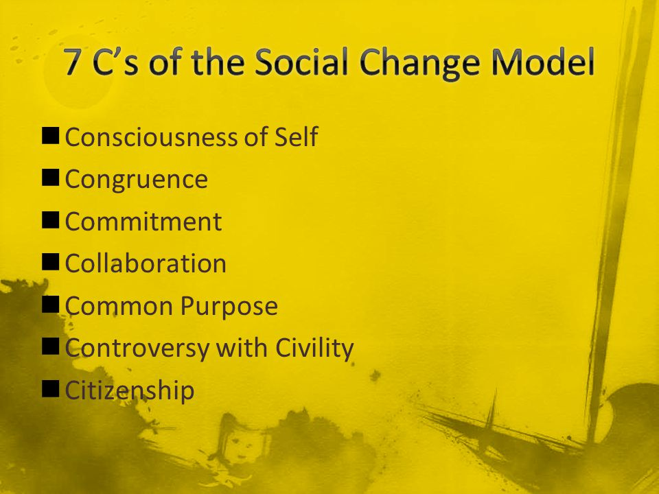 Consciousness of Self Congruence Commitment Collaboration Common Purpose Controversy with Civility Citizenship