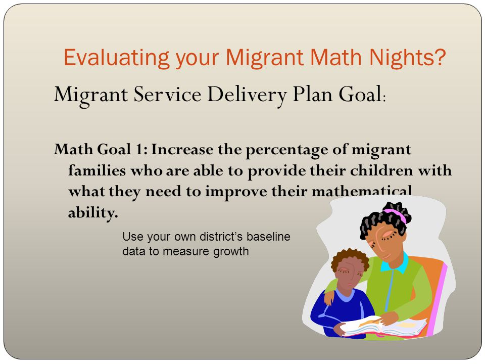 Evaluating your Migrant Math Nights.