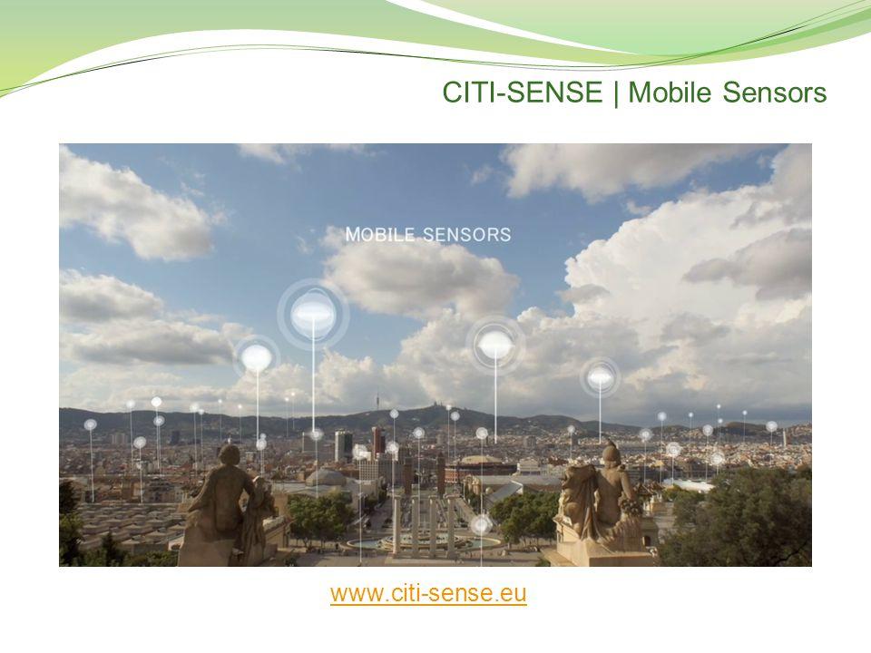 CITI-SENSE | Mobile Sensors www.citi-sense.eu
