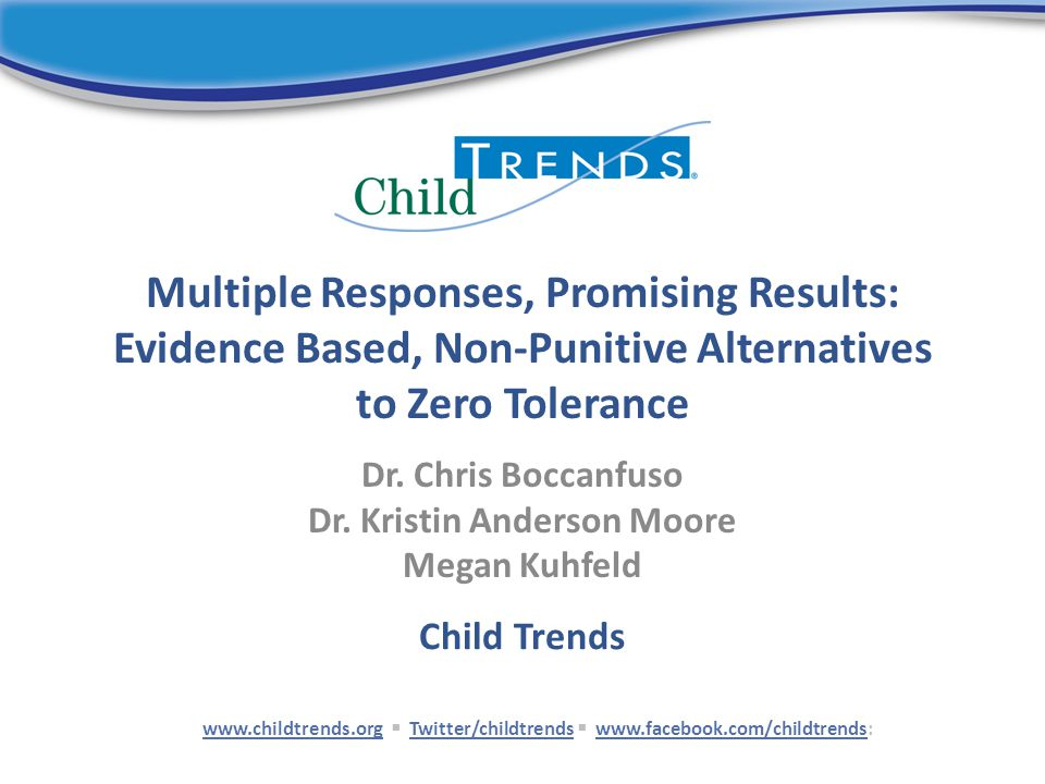 Multiple Responses, Promising Results: Evidence Based, Non-Punitive Alternatives to Zero Tolerance Dr.