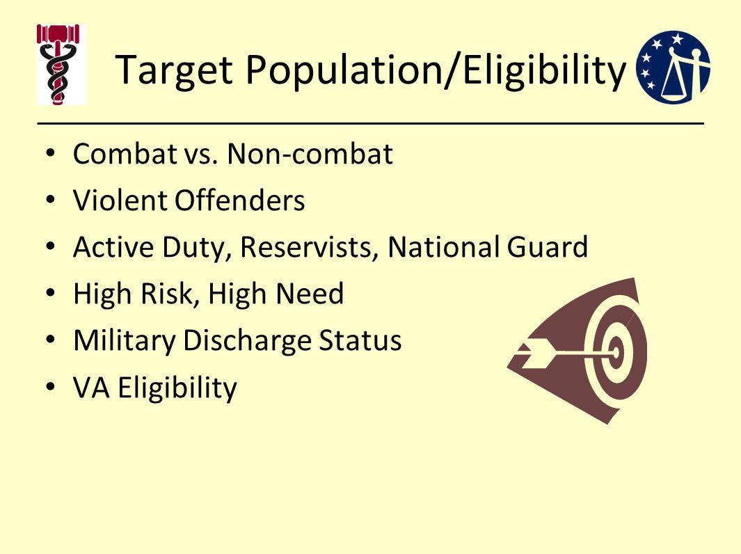 Target Population/Eligibility Combat vs.