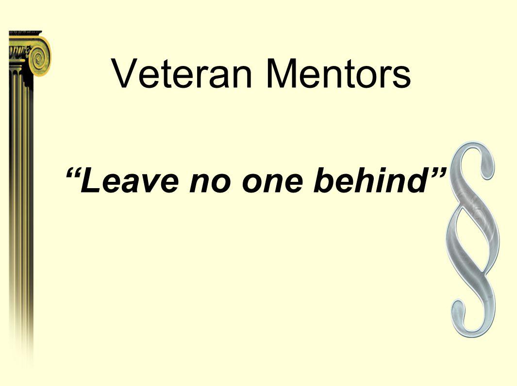 Veteran Mentors Leave no one behind