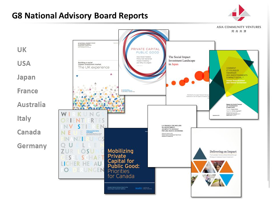 G8 National Advisory Board Reports UK USA Japan France Australia Italy Canada Germany