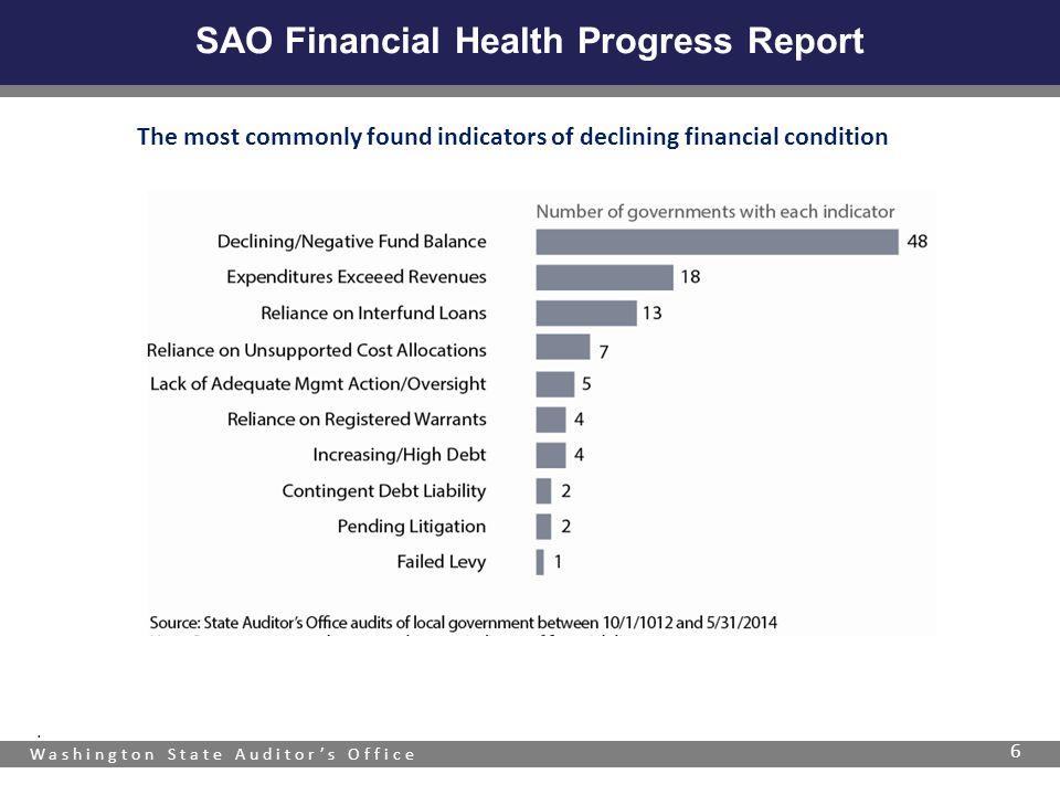 Washington State Auditor's Office SAO Financial Health Progress Report 6.