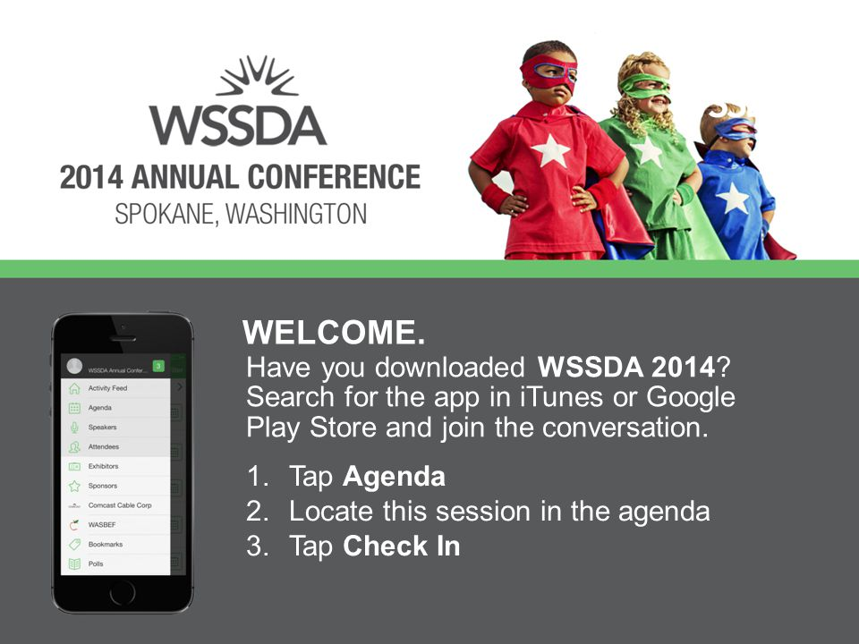 Have you downloaded WSSDA 2014.