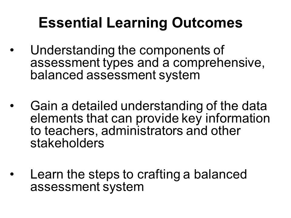 Formative (Common) Assessments Used to inform instruction Sometimes known as mastery monitoring or measurement of skill mastery.