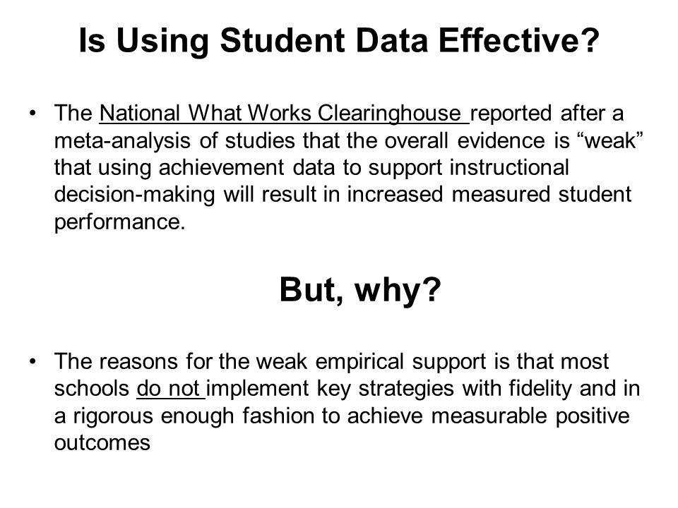 Is Using Student Data Effective.