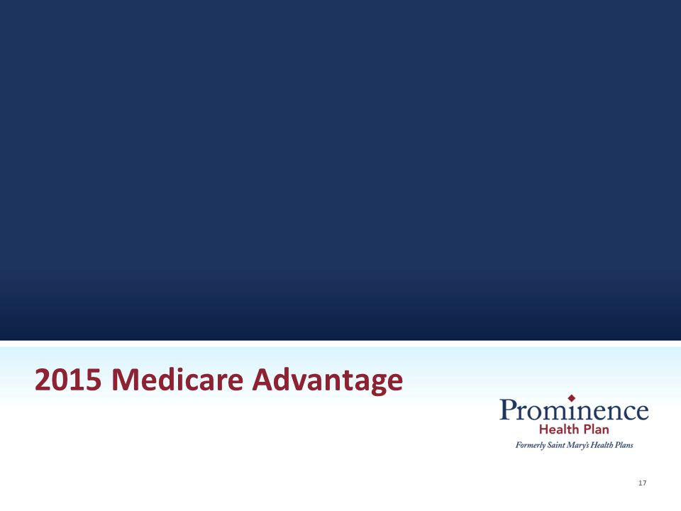 17 2015 Medicare Advantage