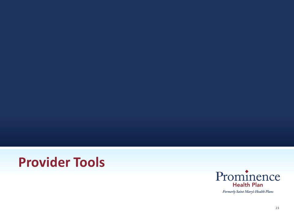 23 Provider Tools