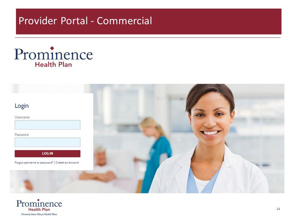 24 Provider Portal - Commercial