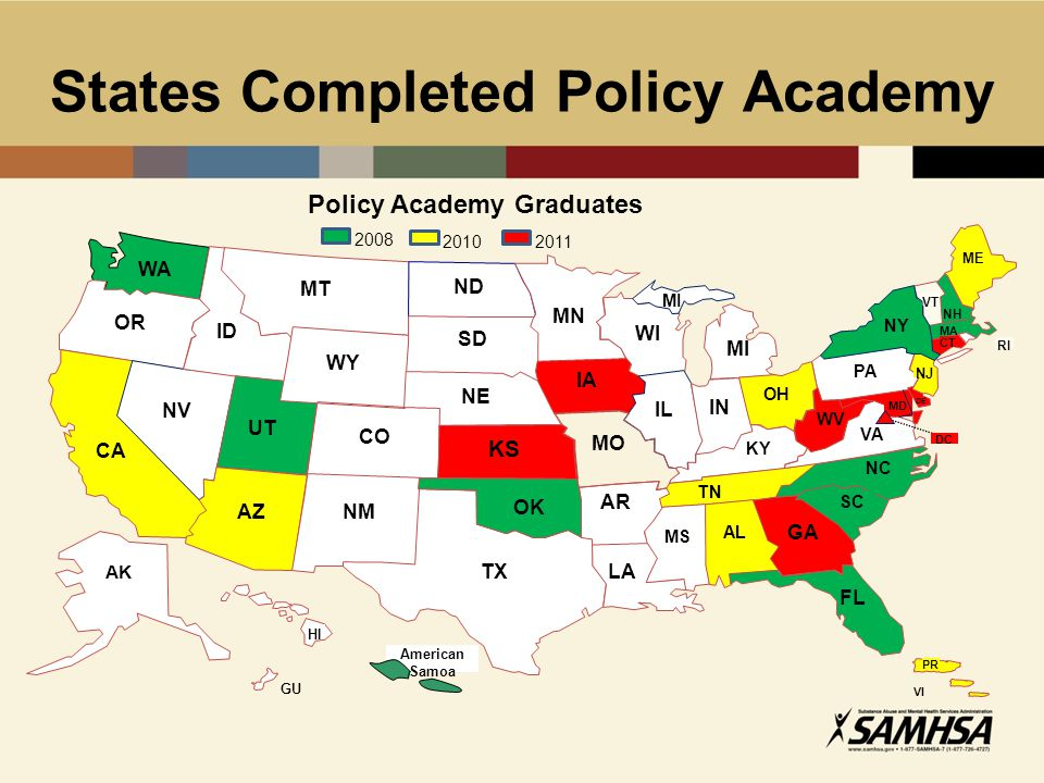 States Completed Policy Academy