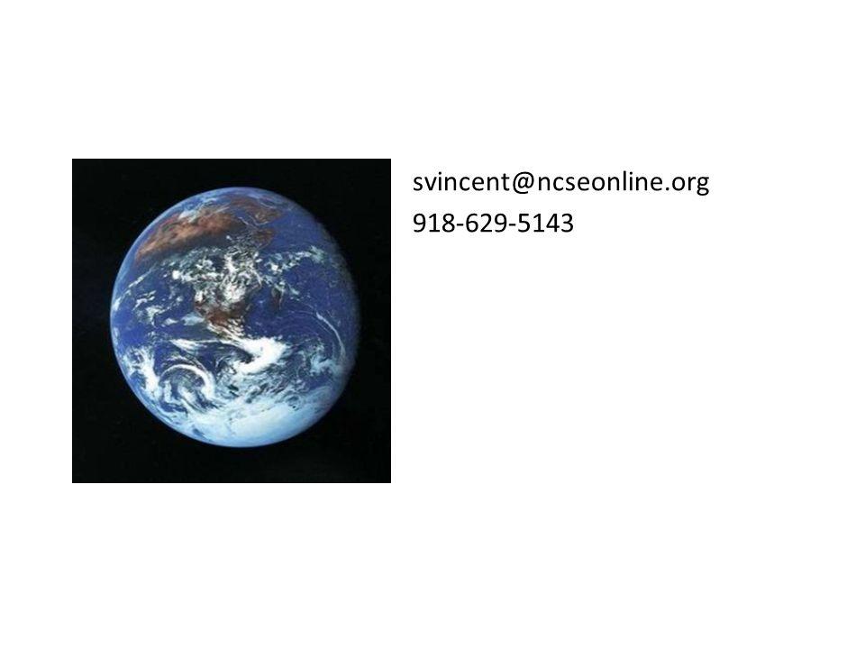 svincent@ncseonline.org 918-629-5143 svincent@ncseonline.org 918-629-5143