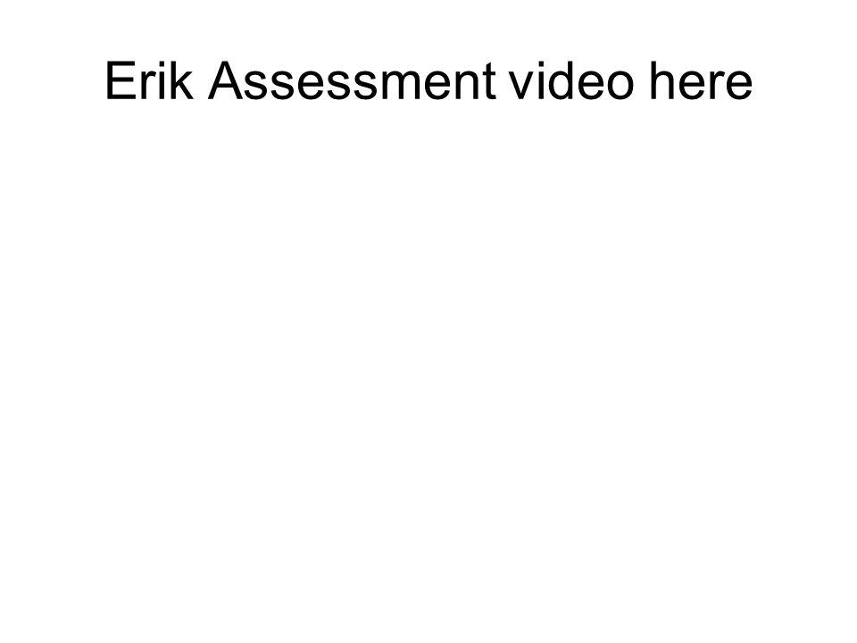 Erik Assessment video here