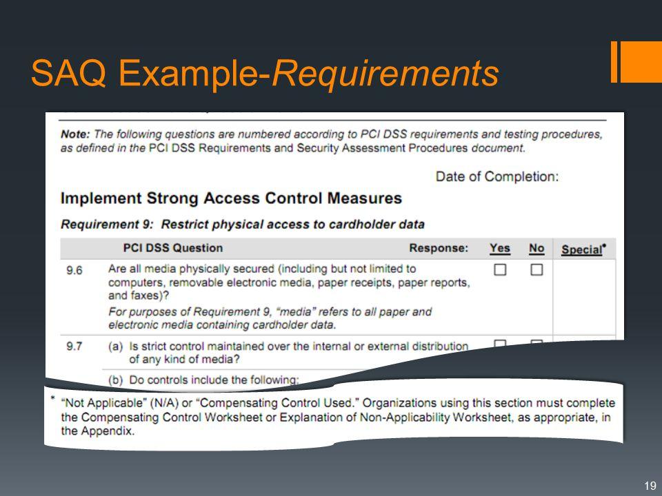 SAQ Example-Requirements 19