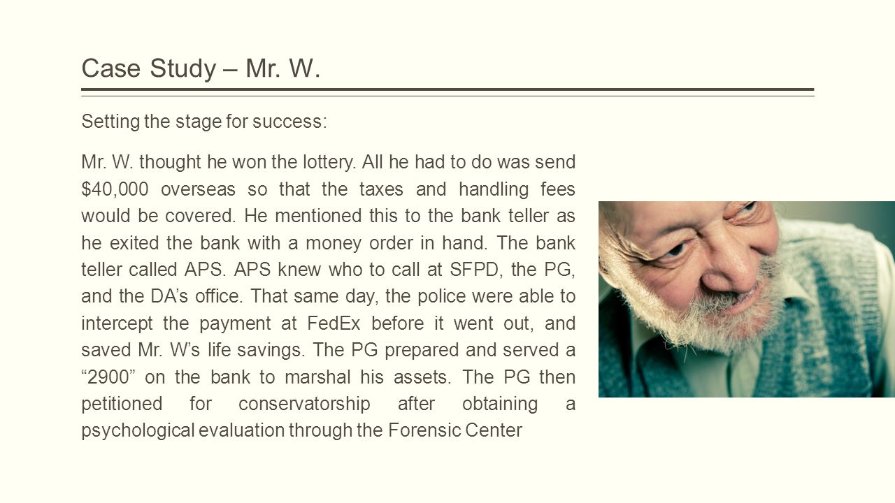 Case Study – Mr. W. Setting the stage for success: Mr.