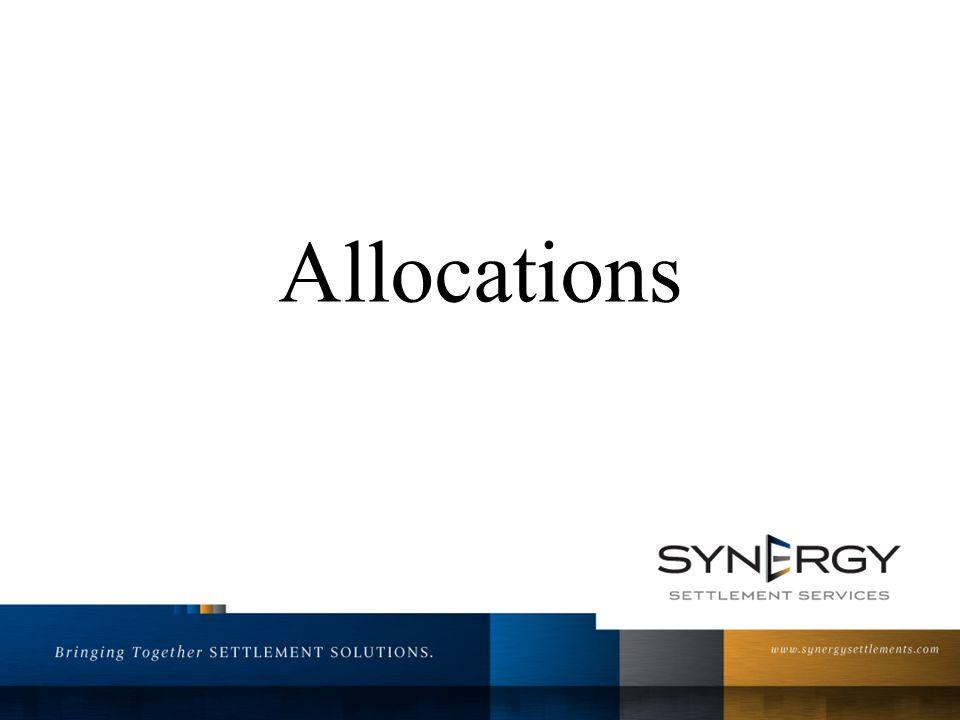 Allocations