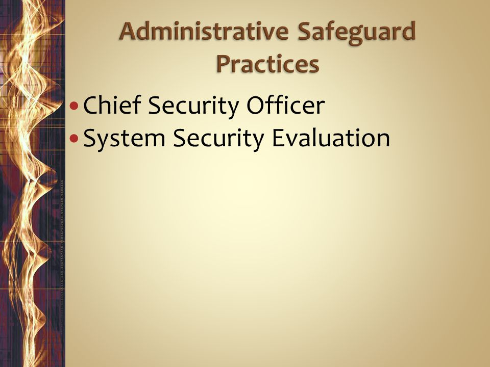 Chief Security Officer System Security Evaluation