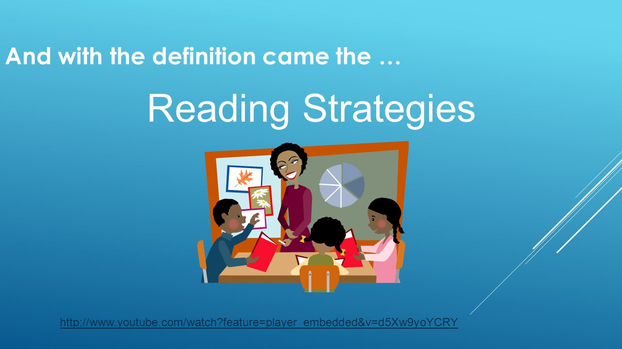 And with the definition came the … Reading Strategies http://www.youtube.com/watch?feature=player_embedded&v=d5Xw9yoYCRY