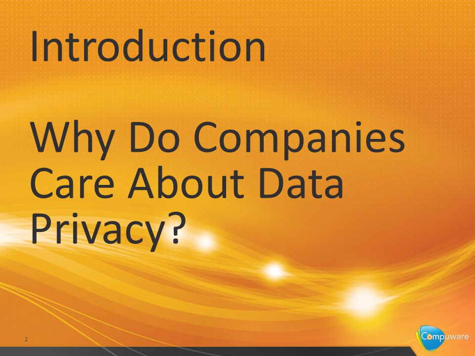 Introduction Why Do Companies Care About Data Privacy 2
