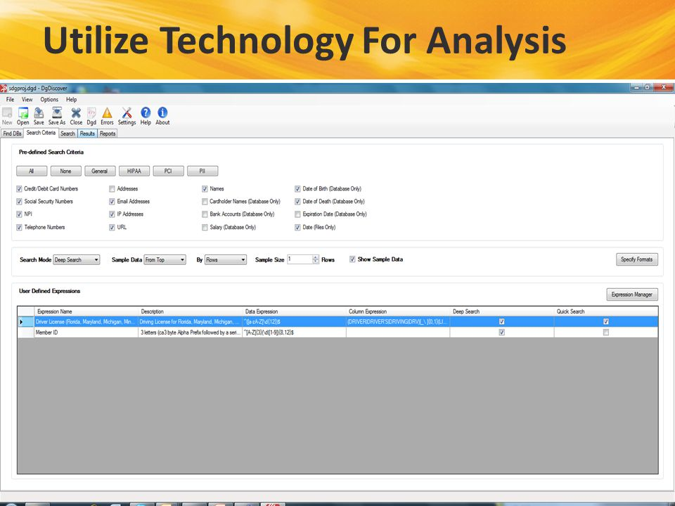 Utilize Technology For Analysis