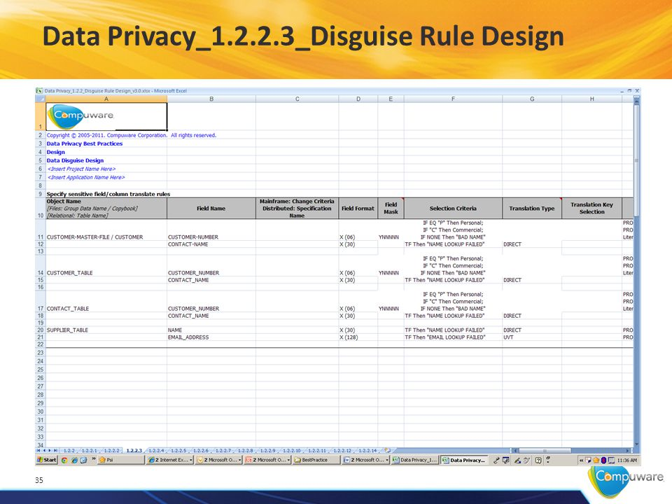 Data Privacy_1.2.2.3_Disguise Rule Design 35