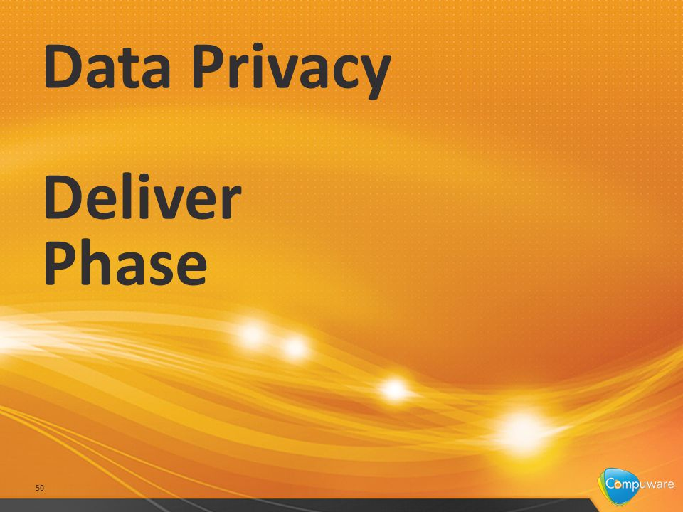 Data Privacy Deliver Phase 50