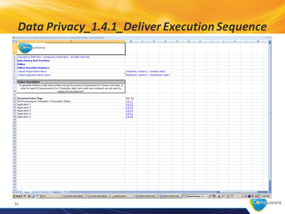 Data Privacy_1.4.1_Deliver Execution Sequence 56