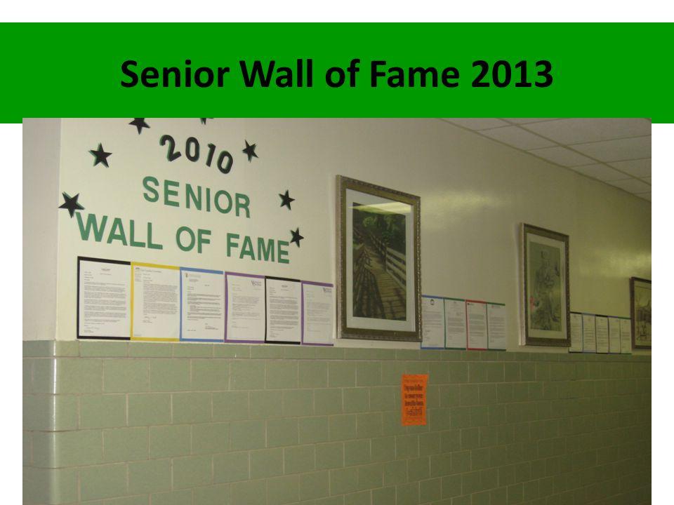 Senior Wall of Fame 2013
