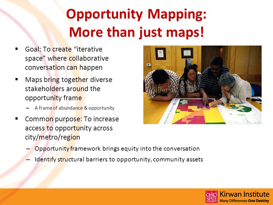 Opportunity Mapping: More than just maps.