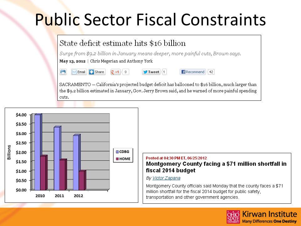 Public Sector Fiscal Constraints 5