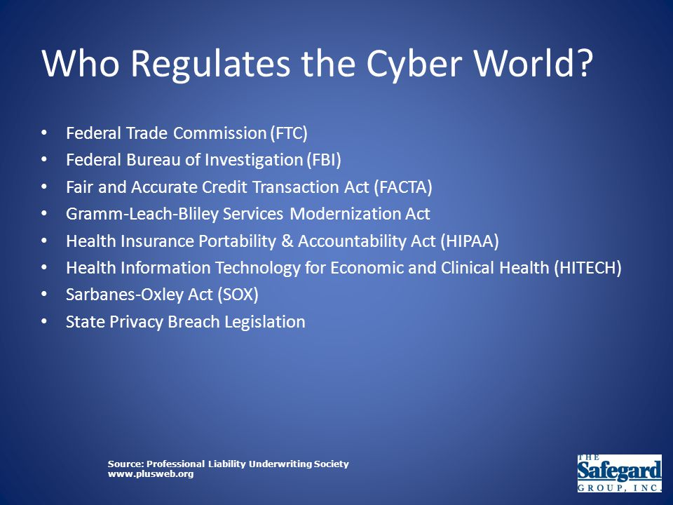 Who Regulates the Cyber World.