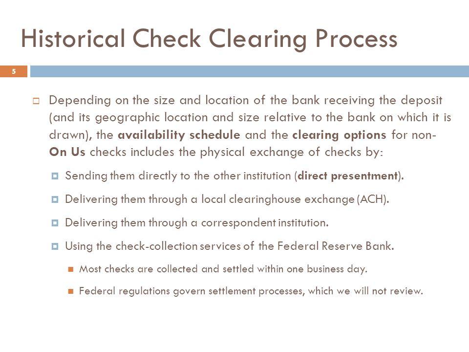 Life of a Check – Customer View 6