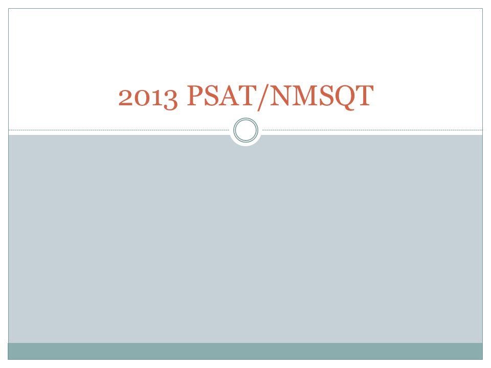 2013 PSAT/NMSQT