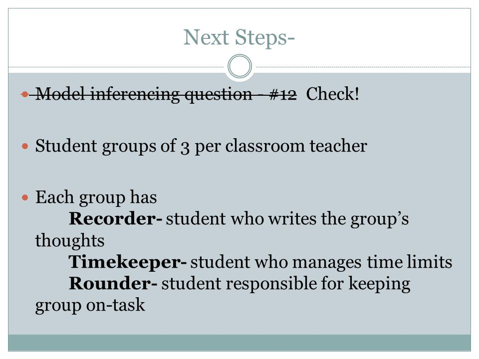 Next Steps- Model inferencing question - #12 Check.
