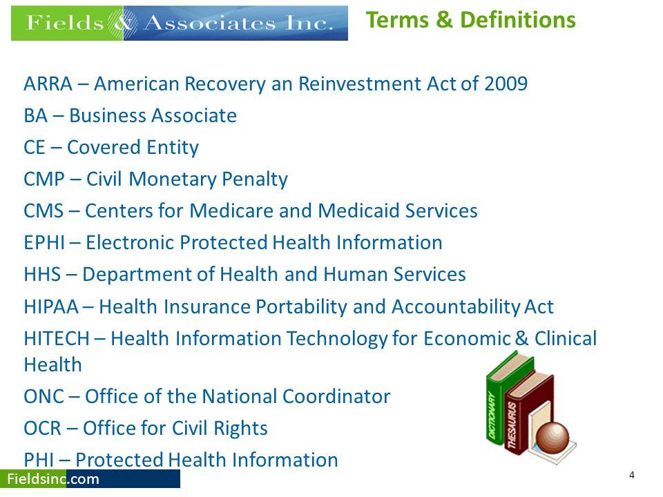 Fieldsinc.com Security Risk Assessment http://www.healthit.gov/providers-professionals/security-risk-assessment-tool HIPAA Privacy - HHS http://www.hhs.gov/ocr/privacy/ HITECH Act http://www.hhs.gov/ocr/privacy/hipaa/administrative/enforcementrule/hitechenf orcementifr.html OMNIBUS Final Rule (pdf) http://www.gpo.gov/fdsys/pkg/FR-2013-01-25/pdf/2013-01073.pdf 25 References